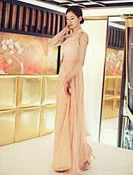 Women's One Shoulder Twist Front Maxi Dress