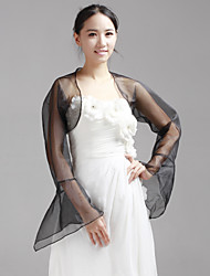 Wedding / Party/Evening Organza Coats/Jackets Long Sleeve Wedding  Wraps