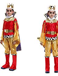 Le Roi Style Halloween or du costume de l'enfant