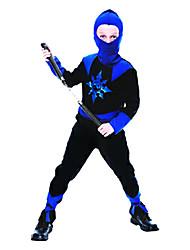 Discrição azul e preto Ninja Costume Criança