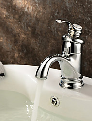Classic Brass Bathroom Sink Faucet - Chrome Finish