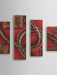 Hand Painted Oil Painting Abstract with Stretched Frame Set of 4 1308-AB0585