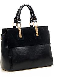 AIDELA Women's Black Trendy Classic Leather Crossbody Bag