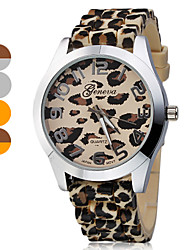 Women's Leopard Print Pattern Dial Silicone Band Quartz Analog Wrist Watch (Assorted Band Colors) Cool Watches Unique Watches