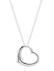 z&X® 925 banhado a prata em forma de coração amor pingente de colar