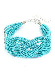 Bohemian Style Alloy With Beads Hand-made Women's Bracelet (More Colors)