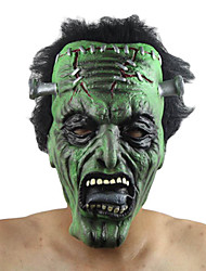 Mask Monster Festival/Holiday Halloween Costumes Green Solid Mask Halloween Unisex Latex