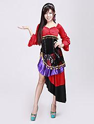 Dame de l'enthousiasme Espagne est audacieux et sans retenue femmes adultes Halloween Costume rouge (4 pièces)