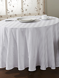 Modern Style White Solid Patter Table Cloth