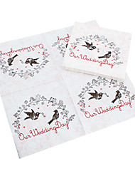 Bebidas guardanapos - Love Birds (conjunto de 20)
