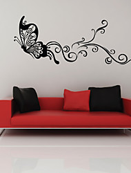 Dança parede etiqueta da borboleta