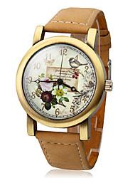 Damen Modeuhr Quartz Japanischer Quartz Armbanduhren für den Alltag Leder Band Khaki Marke