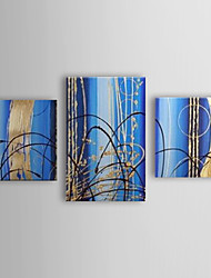 Hand Painted Oil Painting Abstract With Stretched Frame Set of 3 1308-AB0581