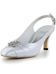 Satin Stiletto Heel Bridal Sandals with Rhinestone Wedding/Special Occasion Shoes(More Colors)
