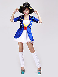 Pretty Cure Blue and White Polyester Pirate Uniform (3 Pieces)
