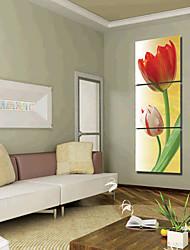 Stretched Canvas Art Floral Rose Set of 3