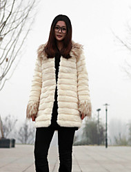 Thick Long Sleeve Turndown Collar Faux Fur Party/Casual Jacket (More Colors)
