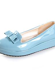 Cuir Chic brevets Flats plate-forme avec bowknot Casual Shoes (plus de couleurs)