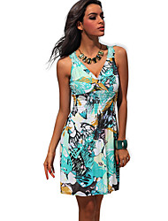 Women's Dresses , Cotton/Polyester Sexy/Casual/Work Landgravine