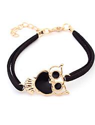 Bracelet Charmes pour Bracelets / Bracelets en cuir Alliage / Cuir Chouette Décontracté Bijoux Cadeau Noir / Blanc / Rouge / Bleu / Violet