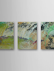 Hand Painted Oil Painting Abstract with Stretched Frame Set of 3 1308-AB0596