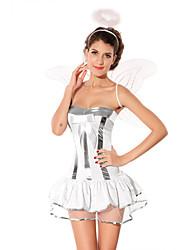 Sexy Women's Angel White Halloween Costume(3 Pieces)