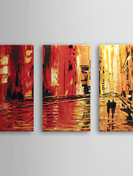 Hand Painted Oil Painting Landscape with Stretched Frame Set of 3 1308-LS0578