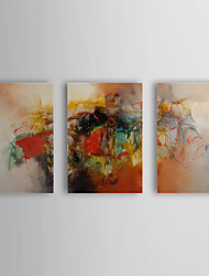 Hand Painted Oil Painting Abstract with Stretched Frame Set of 2 1308-AB0707