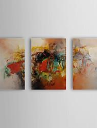 Peint à la main Peinture à l'huile abstraite avec cadre étiré Lot de 2 1308-AB0707