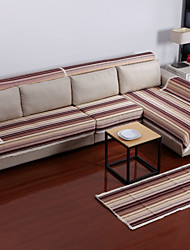 Cotton Coffee Stripes Sofa Cushion 70*180