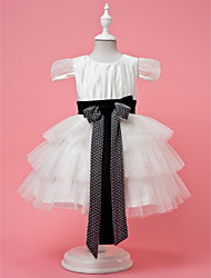 Chiffon Flower Girl Dress With Tiers