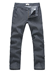 Rayas finas Staights jeans para hombres
