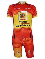 Kooplus2013 Championship Jersey Spanien Polyester & Lycra & elastisches Gewebe Radfahren Suits (T-Shirt + Bib-Pants)