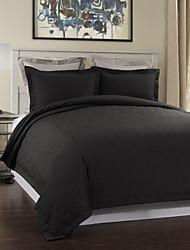 3-teiliges Modern Style Schwarz Welligkeit Jacquard Bettbezug Set