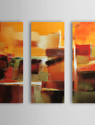 Peint à la main Peinture à l'huile abstraite avec cadre étiré Ensemble de 3 1308-AB0721