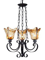 Max 60W Traditional/Classic Bulb Included Painting Metal Chandeliers Living Room / Bedroom / Dining Room