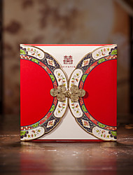 Pretty Wedding Invitation With Chinese Botton Knot (Set of 50)