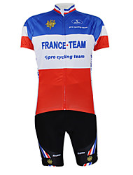 Kooplus2013 Championship France Jersey Polyester&Lycra&Elastic Fabric Cycling Suits(T-Shirt + Pants)