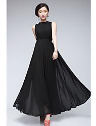Women's Strapless Backless Tight Waistline Maxi Dress
