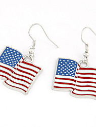 Cool Design Alloy American Flag Women's Earrings