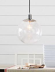 Max 60W Pendant Light ,  Traditional/Classic / Globe Chrome Feature for Mini Style Metal Living Room / Dining Room