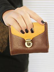 Vintage контрастного цвета латуни Засов короткие бумажник
