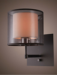 Wall Light with 1 Light in Black Shade