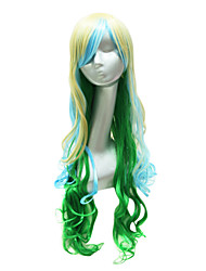 Sexy Party Wig  Mixed Color Long Wavy Party Wigs