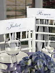 Wedding Décor Personalized Stain Chair Sashes(set of 2)-(More Colors)
