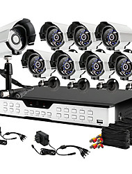 Zmodo® 16CH Channel DVR 8 Outdoor 600TVL Camera Video Surveillance Security Camera System