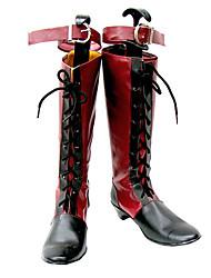 Mayordomo Negro Ciel Phantomhive Primera página Red VER. Botas cosplay