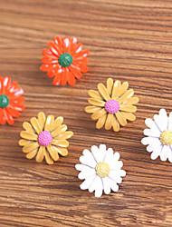 versão coreana da pequena margarida gerbera brincos pequenos brincos bonitos (cor aleatória)