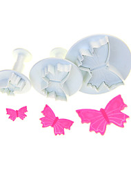 Veined Butterfly Shape Cutter Set Of 3 Pieces