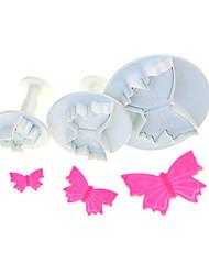 Veiné forme de papillon Cutter Set de 3 pièces
